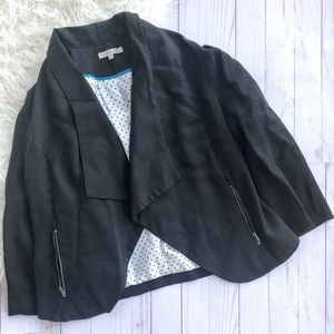 41 Hawthorn Teegan Draped Black Blazer Stitch Fix